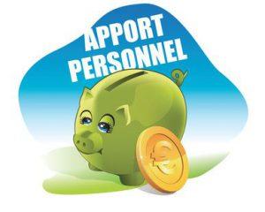 Definition apport personnel