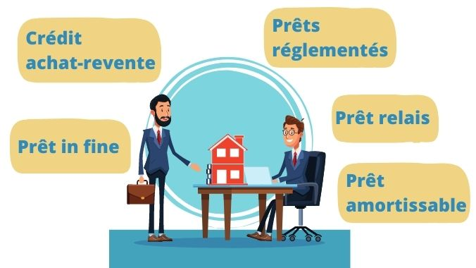 les differents prets immobiliers