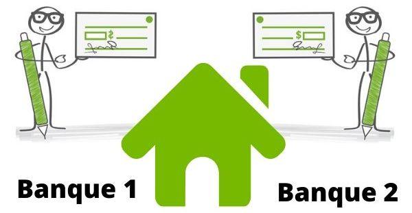 Pret immobilier aupres de 2 banques