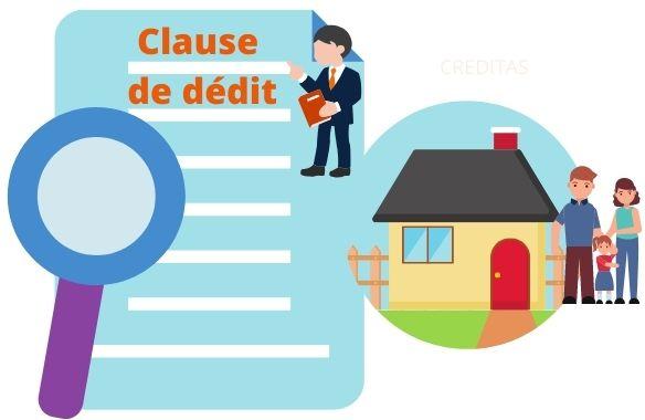 Insertion d'une clause de dedit dans un compromis de vente