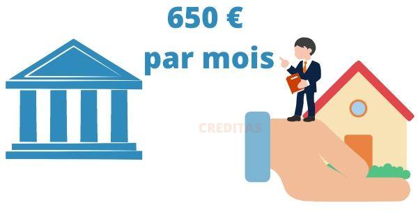 Mensualite maxi de 650 €
