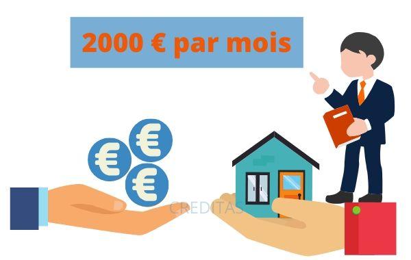 Montant pret immobilier avec un salaire de 2000 euros par mois
