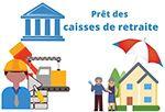 Prets des caisses de retraites et mutuelles