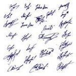 Signature de tous les indivisaires