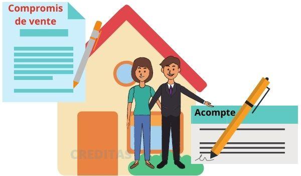 Versement de l'acompte a l'agence immobilier